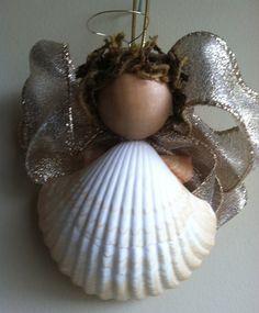 Beach Christmas Decor - Shell Angel Christmas Ornament (SSA002) - Shipping Included