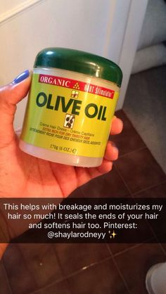 Olive oil helps with hair breakage and moisture Natural Hair Care Tips, Natural Hair Growth, Natural Hair Styles, Curly Hair Care, Curly Hair Styles, Soften Hair, Hair Supplies, Dress Hairstyles, Hairdos