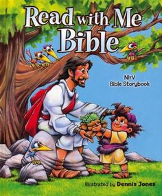 The Read with Me Bible: Children love it. Parents trust it. This storybook Bible contains Old and New Testament sections and brings 106 best-loved Bible stories to life. The Read with Me Bible is based on the New International Reader's Version (NIrV) that Easy To Read Bible, Bible For Kids, Bible Stories For Kids, Dennis Jones, Old And New Testament, Early Readers, Bible Lessons, Funny Art, Early Education