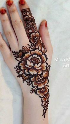 Pretty Henna Designs, Latest Henna Designs, Henna Tattoo Designs Simple, Floral Henna Designs, Finger Henna Designs, Mehndi Designs Book, Full Hand Mehndi Designs, Modern Mehndi Designs, Mehndi Designs For Beginners