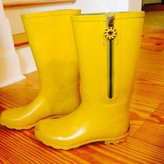 Jack Rogers Yellow Rain Boots Jack Rogers Yellow Rain boots. Very cute and colorful! I will be honest, they are used. Pictures of some blemishes listed above. None the less they are cute! Jack Rogers Shoes Winter & Rain Boots