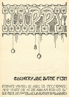 New Years' Eve show poster 1967