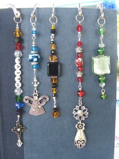 """shepherd hook bookmarks, handmade by me =) the """"faith"""" bookmark is a """"Colors of Faith"""" bookmark & comes with a card that explains the meaning of each color, representing our journey of faith in Jesus"""