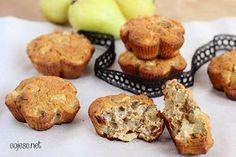 Gruszkowe muffinki bez glutenu, tłuszczu i cukru. Samo zdrowie!   Zdrowe Przepisy Pauliny Styś Healthy Snacks, Healthy Recipes, Paleo, Cookies, Baking, Breakfast, Eat, Google, Check