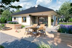 Wizualizacja ARP FIGO CE 3d House Plans, Bungalow House Plans, Better Homes, Home Fashion, Home Projects, Sweet Home, Interior Decorating, Exterior, Patio