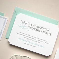 #wedding #invitation #letterpress