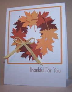 Autumn wreath by stampingwriter - Cards and Paper Crafts at Splitcoaststampers