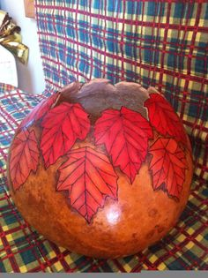 Handcrafted Maple Leaf Gourd Bowl by ObladeeObladebb on Etsy