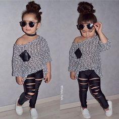 ♡M o n i q u e.M Outfits Niños, Cute Girl Outfits, Cute Outfits For Kids, Toddler Girl Outfits, Fashion Outfits, Cute Kids Fashion, Little Girl Fashion, Lulu Fashion, Baby Fashionista