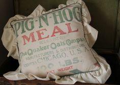 Feedsack / Grainsack Pillow