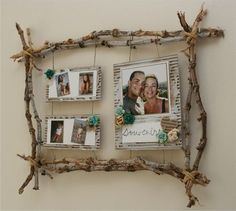 Born to be alive - Les p'tites bricoles de Delph - Best Picture For rustic Frame Crafts Twig Crafts, Driftwood Crafts, Nature Crafts, Home Crafts, Picture Frame Crafts, Wooden Picture Frames, Picture On Wood, Natural Picture Frames, Cadre Photo Diy