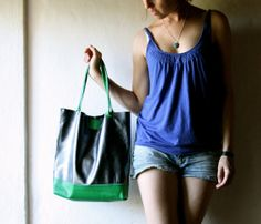 Leather tote Laptop bag Leather Tote bag Leather by larimeloom, €110.00