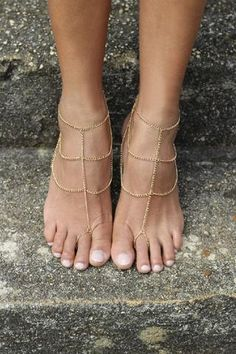 Lover Barefoot Sandals - Gold - http://www.foreversoles.com/collections/barefoot-sandals