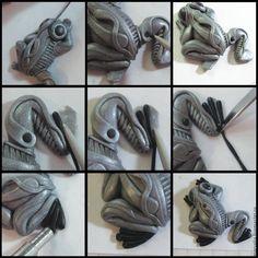 Мастер-класс по созданию лягушонка в стиле биомеханика - Ярмарка Мастеров - ручная работа, handmade