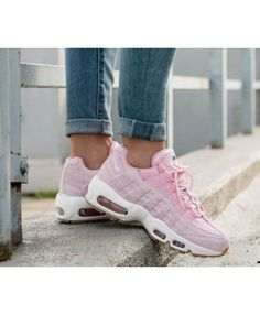 brand new 9e05d 14fb1 Cheap Nike Air Max 95 Womens Prism Rose Blanc Shoes Continue The Classic  Modeling Design, Breathable And Shockproof, Make An Order Now Enjoy  Discounts ...
