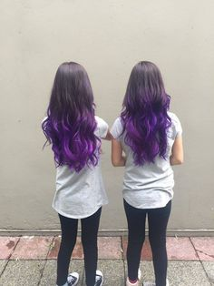 Purple Balayage/Ombre Purple Balayage, Salons, How To Find Out, Long Hair Styles, Beauty, Lounges, Long Hairstyle, Long Haircuts, Long Hair Cuts