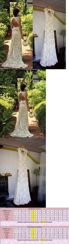 Wedding Dresses: Ivory White Lace Wedding Dress Bridal Gown Custom Size 4 6 8 10 12 14 16 18 ++ -> BUY IT NOW ONLY: $118 on eBay!