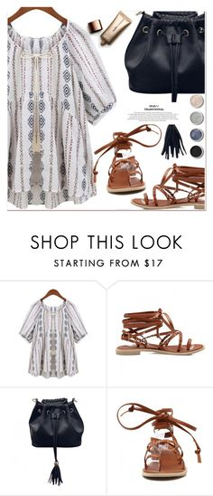 """""""peasant top"""" by paculi ❤ liked on Polyvore featuring Nude by Nature and Terre Mère"""