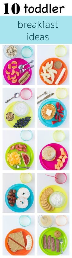 10 Toddler Breakfast Ideas to inspire your busy mornings! If your toddler's eating habits are sometimes a question mark, start him or her off with a strong breakfast. Mix and match these toddler favorites below with milk for a great start to the day! #breakfast #recipes #brunch #healthy #recipe