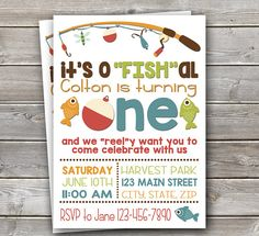 "o""FISH""ally One themed birthday party!"