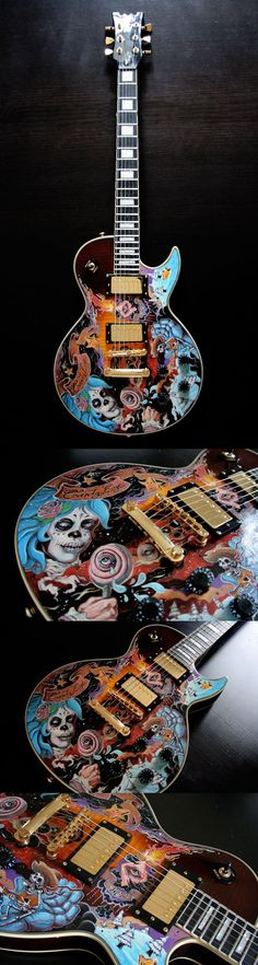 Nouvelle Guitare Custom by Jef. reminds me of the greatful dead Nouvelle Guitare Custom by Jef. reminds me of the greatful dead Guitar Painting, Guitar Art, Music Guitar, Cool Guitar, Playing Guitar, Acoustic Guitar, Guitar Room, Gretsch, Ukulele