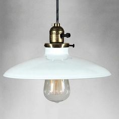 Shallow Plate Industrial Vintage Pendant Light #60W #ceiling-light #edison