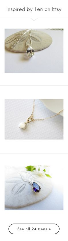 """Inspired by Ten on Etsy"" by belladonnasjoy ❤ liked on Polyvore featuring jewelry, necklaces, inspiredby10, sterling silver chain necklace, chain necklaces, chain pendants, topaz necklace, wrap necklace, coin jewelry and gold filled jewelry"
