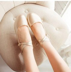Korean Ballet Cross Low Heels Shoes SD00489 - SYNDROME - Cute Kawaii Harajuku Street Fashion Store