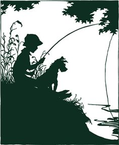 Boy and Dog Fishing by Hero Arts from the Silhouette Online Store!