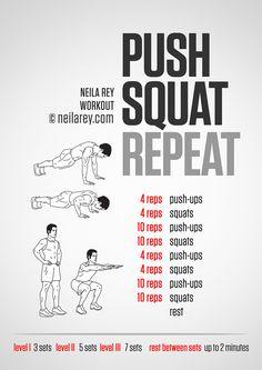Push Squat Repeat Workout