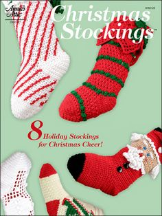 Christmas Stockings: DIVSome are fancy, some are fun, but all are amazing examples of crochet artistry. Holiday Crochet Patterns, Crochet Patterns For Beginners, Easy Crochet Patterns, Craft Patterns, Christmas Patterns, Crochet Ideas, Crochet Stitches, Crochet Projects, Christmas Hat