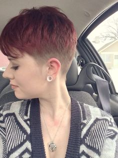 womens clipper haircuts | Faded color and cut.. | Short and Tapered | Pinterest