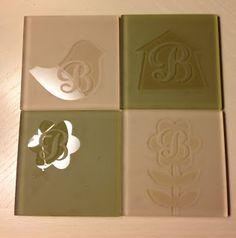 ~ Marilyns Cricut Crafts ~: Monogram Coasters