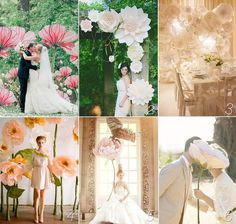 Giant paper flowers wedding inspiration | Download & Print