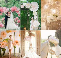flores de papel gigantes inspiração de casamento |  Download & Imprimir