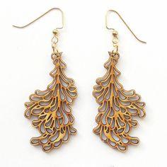 #lasercut wooden earrings