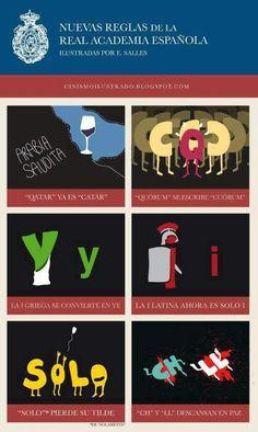 Las nuevas reglas de la RAE #infografia