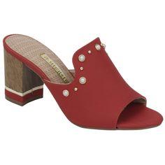 Tamanco em sintetico 17-17302 Suede Sandals, Women's Shoes Sandals, Shoe Boots, Trendy Shoes, Cute Shoes, Me Too Shoes, Sneaker Boots, Sophie Shoes, Beaded Shoes