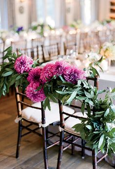 Brides: Bride-and-Groom's Chairs Decoration :