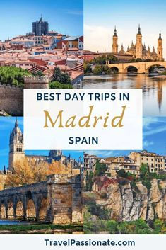 Planning a trip to Madrid and looking for day trip ideas? In this post, find the best day trips from Madrid, how to get there and things to see. Cool Places To Visit, Places To Travel, Travel Destinations, Places To Go, Holiday Destinations, Tahiti, Empire State Building, Valencia, Pisa