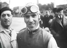 Tazio Nuvolari - racing car driver. From the 1930's but fantastic look!