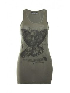 Religion Clothing Skull Wing Vest T-Shirt