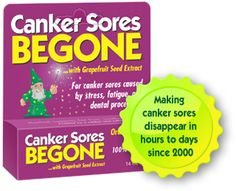 I was the product developer for this also many moons ago. It was the first specific product for canker sores in the natural products industry. For most, it heals the sores inside your mouth in 1-2 days.  For  me, it's usually heals overnight.  $ 10.99, free shipping, and very safe for kids.