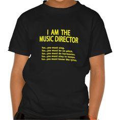 Music Director Rules T Shirt, Hoodie Sweatshirt