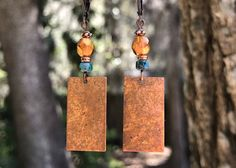 A personal favorite from my Etsy shop https://www.etsy.com/listing/603820173/turquoise-earrings-copper-earrings