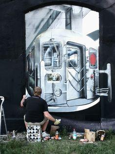 Munich graffiti street art