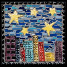 city Mosaics with clay pieces