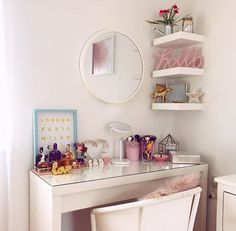 Gold Office, Glam Room, Biscuit, My House, Vanity, Desk, Black And White, Bedroom, Furniture