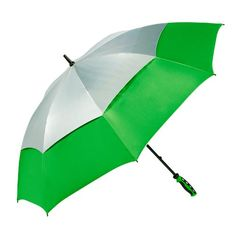 ShedRain Umbrellas Shedrays Vented 62-Inch Golf Umbrella, Silver/Green, One Size ** Continue to the product at the image link.