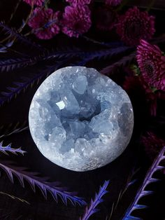 Celestite Crystal  Celestite Orb  Large Blue by bionicunicorn